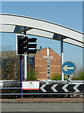 SO9198 : Ring Road St George's roundabout, Wolverhampton by Roger  Kidd