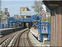 TQ3880 : Docklands Light Railway - All Saints station by Peter Whatley