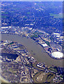 TQ3981 : The Lea and the Thames from the air by Thomas Nugent