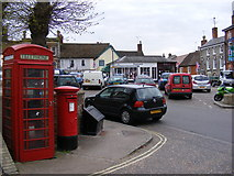 TM2863 : Market Hill & Market Hill Postbox by Adrian Cable