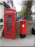 TM2863 : Telephone Box & Market Hill Postbox by Adrian Cable