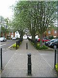 SU6351 : Path between car parks by Sandy B