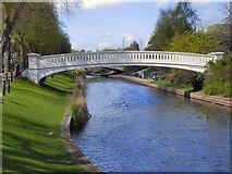 SJ9222 : River Sow, Victoria Park by David Dixon