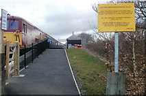 SO2508 : Entrance ramp to Blaenavon (High Level) railway station by Jaggery