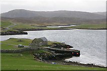 HU4869 : Pier at West Lunna Voe by Mike Pennington
