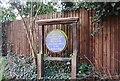 TQ2193 : Hendon Park Blue Plaque by N Chadwick