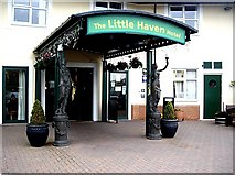 NZ3668 : The Little Haven Hotel portico, South Shields by Stanley Howe