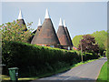 TQ7348 : Reed Court Oast & Flanders Oast, Hunton Road, Chainhurst, Kent by Oast House Archive