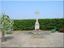 SE6959 : War memorial, Sand Hutton by JThomas