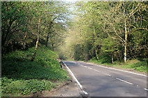 SK2076 : The A623 west of Stoney Middleton by David Lally