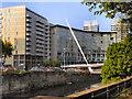 SJ8398 : River Irwell, Lowry Hotel and Trinity Footbridge by David Dixon