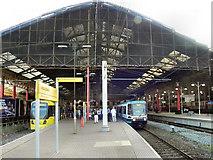 SJ8499 : Victoria Station, Metrolink by David Dixon