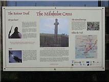 NY4786 : The Reiver Trail at the Millholm Cross by M J Richardson