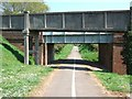 SY0281 : Two bridges over NCN 2 on the edge of Littleham by David Smith