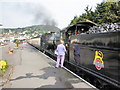 SS9746 : Special football train at Minehead by Roger Cornfoot
