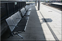 SK3635 : Benches on platform 4 by David Lally