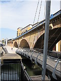 TQ3681 : Bridges over Regent's Canal at Limehouse by Gareth James