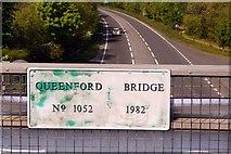 SU5894 : Plaque on Queenford Bridge by Steve Daniels