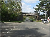SP0838 : Broadway - disused railway bridge, Station Road by Peter Whatley