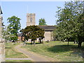 TM3464 : Footpath to the B1119 Rendham Road & St.Michael's Church by Adrian Cable