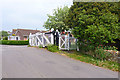 SY4893 : Level Crossing Gates by Mike Smith