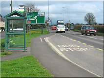 ST4636 : Bus stop on the A39 at Walton by Ken Grainger