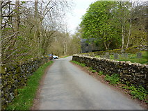 SD2296 : Road to the north of Holy Trinity Church, Seathwaite by Alexander P Kapp
