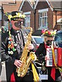 TQ8210 : Saxophonist at Jack in the Green procession, Collier Road  by Oast House Archive