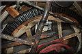 TM2564 : Saxstead Green Postmill - Brake Wheel by Ashley Dace