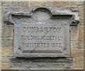 NS4075 : Dumbarton Building Society plaque by Thomas Nugent