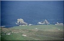 HT9541 : Gaada Stack from Hamnafield, Foula by Mike Pennington