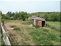 SO4609 : Oak and rusty farm building near Dingestow by Jaggery