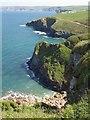 SW9881 : Cliffs at Pine Haven by Derek Harper