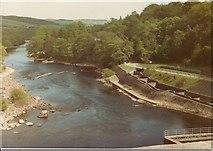 NN9357 : River Tummel & Fish Ladder Pitlochry by John Jennings