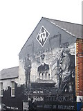 J3574 : Gable end painting commemorating the Titanic by Rod Allday
