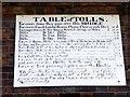 SJ6703 : Information Board re Tolls, Ironbridge, Shropshire by Christine Matthews