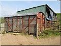SO2479 : Railway van shed by Jonathan Wilkins