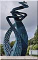 J3683 : Sculpture, Jordanstown by Albert Bridge