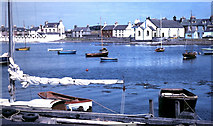 NX4736 : Harbour view at Isle of Whithorn 1972 by Gordon Spicer