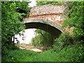 TM1499 : Disused railway bridge, Wreningham by Evelyn Simak