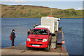 NM8328 : The Kerrera ferry at the mainland landing slipway by Walter Baxter