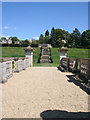 SK9226 : Looking towards the site of old Easton Hall, Easton Walled Gardens by Kate Jewell