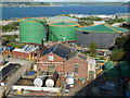 SW8232 : Falmouth Docks - tank farm and pump house by Chris Allen