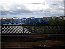 NZ2463 : The view downstream River Tyne by Stanley Howe