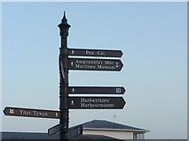 SH5638 : Signpost, Porthmadog, Gwynedd by Christine Matthews