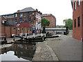 SK5739 : Nottingham Canal: Castle Lock by John Sutton