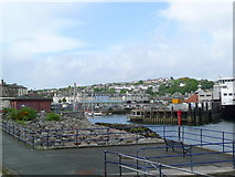 NS0964 : The entrance to Rothesay Harbour by Gordon Brown