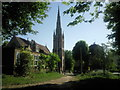 TQ2273 : Holy Trinity Church, Roehampton seen from Putney Heath by Marathon