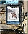 SJ9694 : Sign of Godley Hall Inn by Gerald England