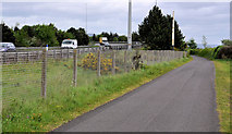 J3479 : Cycle route, Greencastle near Belfast (1) by Albert Bridge